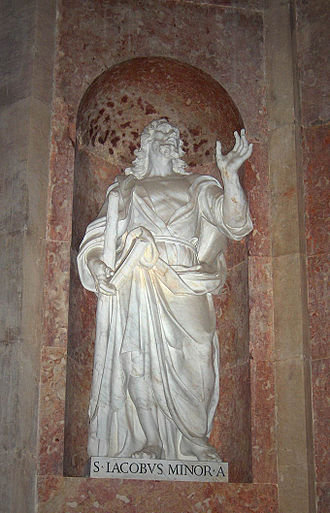 James the Less - Statue of Saint James the Minor, Apostle, at the church of the Mafra Palace, Portugal