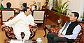 Mahesh Chai meeting the Minister of State for Culture and Tourism (Independent Charge), Dr. Mahesh Sharma, in New Delhi.jpg