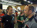 Maker faire 2009 palo alto Jay Walsh and booth visitor.jpg