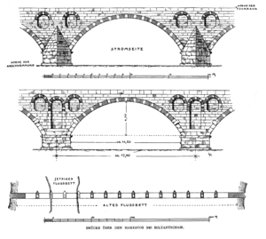 Macestus Bridge - Elevation and plan of the Macestus Bridge