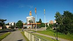 Maltesholmsvägen i juni 2017, vy mod øst