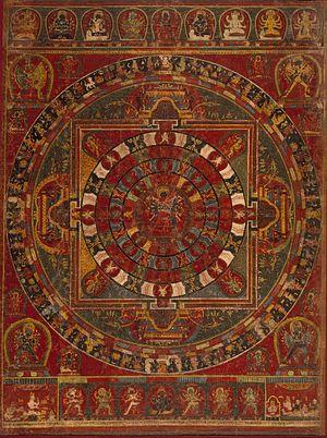 Cakrasaṃvara Tantra - Image: Mandala of the Buddhist Deity Chakrasamvara LACMA M.73.2.1