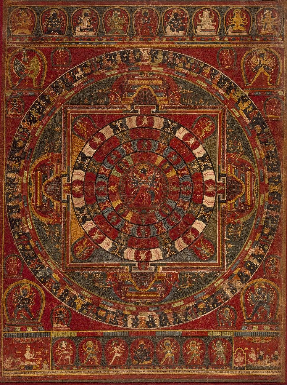 Mandala of the Buddhist Deity Chakrasamvara LACMA M.73.2.1