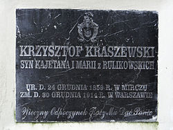 Manor of Kraszewski family in Romanów – Chapel - Epitaphs - 08.jpg