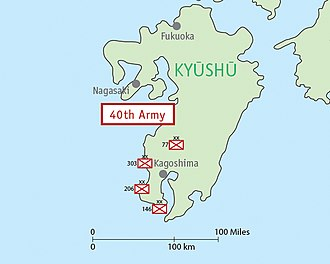Fortieth Army (Japan) - Image: Map IJA Army, 40th