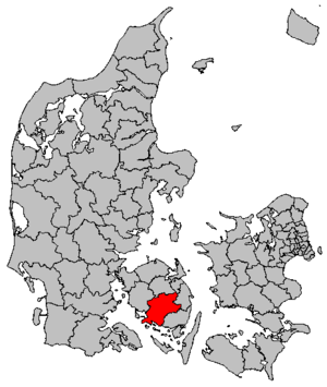 Faaborg-Midtfyn Municipality - Image: Map DK Faaborg Midtfyn