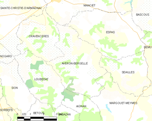 Avéron-Bergelle - Avéron-Bergelle and its surrounding communes