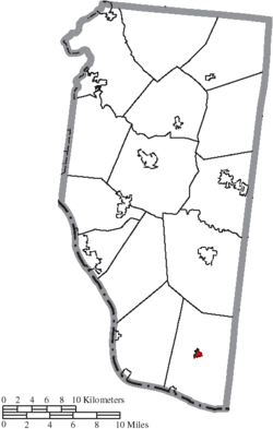 Location of Felicity in Clermont County