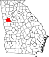 Map of Georgia highlighting Coweta County.svg