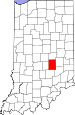 Map of Indiana highlighting Shelby County.svg