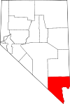 Map of Nevada highlighting Clark County.svg