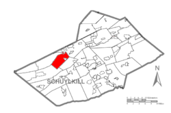 Map of Schuylkill County, Pennsylvania Highlighting Barry Township