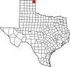 State map highlighting Lipscomb County
