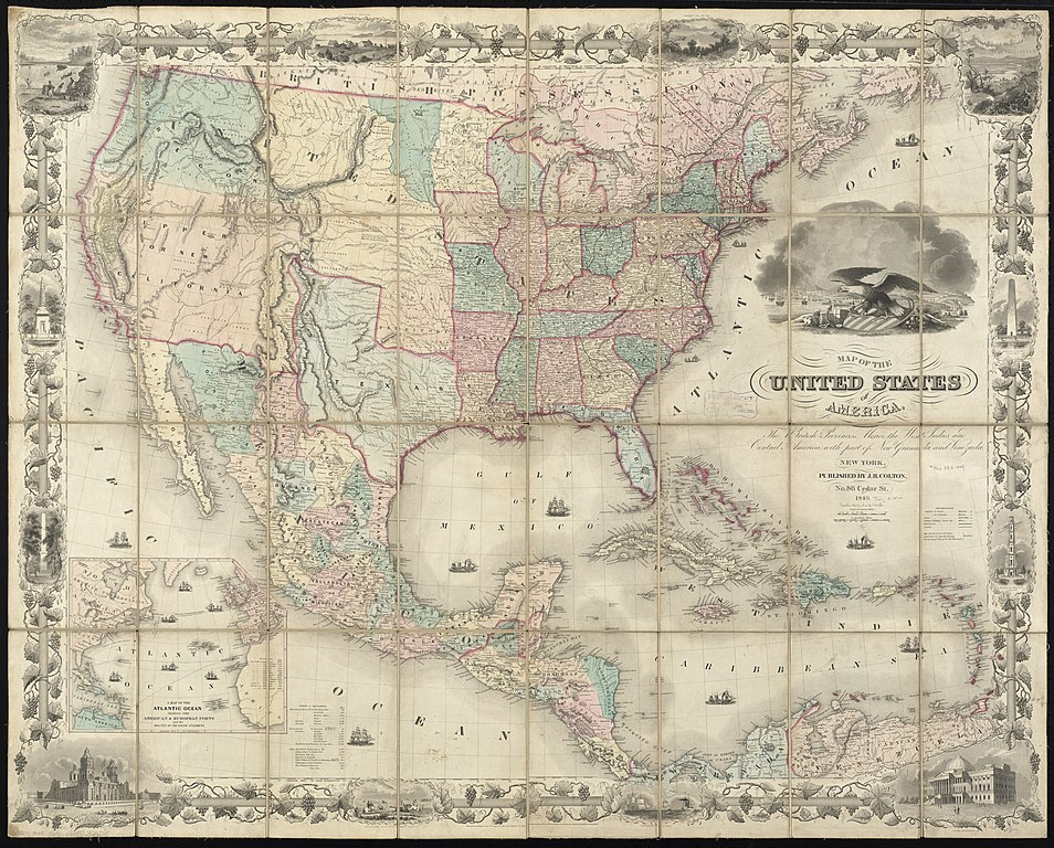 filemap   united states  america  british provinces mexico  west indies