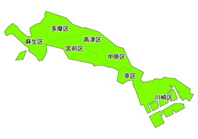 Map of wards of Kawasaki city.png