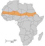 The location of Sahel in Africa