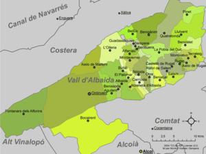 Vall d'Albaida - Municipalities of Vall d'Albaida.