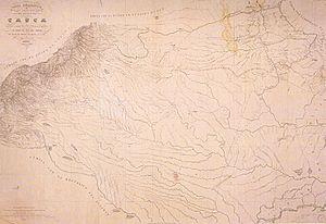 Caquetá Territory - Image: Mapa del Territorio del Caquetá (1865)