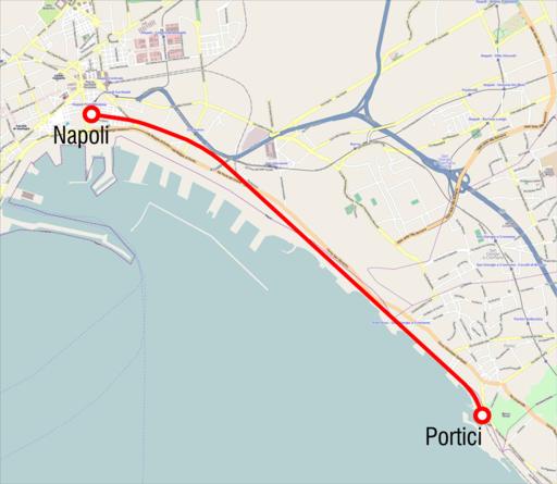 Mappa Napoli-Portici