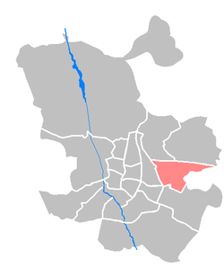Location of San Blas is a district in Madrid