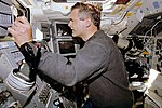 Marc Garneau operates the Canadarm (RMS) during STS-77.jpg