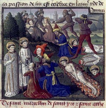 Deutsch: Maeryrium der Hl. Marcellinus und Petrus