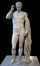Italiano: Statua virile cosiddetta di Marco Claudio Marcello (42-23 a.C.; nipote di Augusto)