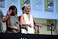 Margot Robbie and Viola Davis at comic con.jpg