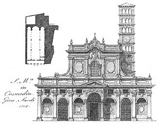 Santa Maria in Cosmedin - The 1718 Baroque façade