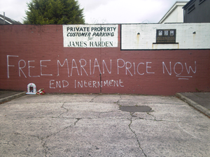 Marian Price - Graffiti supporting Price on the Falls Road, Belfast following her 2011 imprisonment