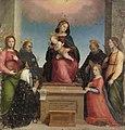 Mariotto di Bigio di Bindo Albertinelli - Maria mit Kind und den Hll. Katharina von Siena, Katharina von Alexandrien, Maria Magdalena, Dominik - GG 220 - Kunsthistorisches Museum.jpg
