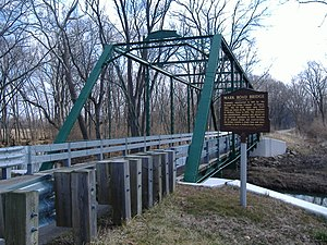 Union Township, Fayette County, Ohio - The Mark Road Bridge over Sugar Creek