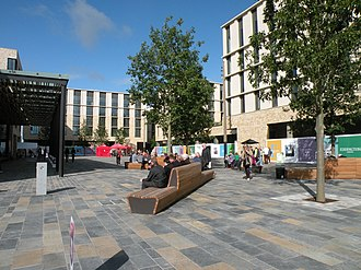 North West Cambridge development - Eddington market square