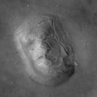 Le visage vu par Mars Global Surveyor