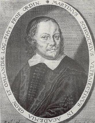 Martin Schoock - Martin Schoock, engraving by Steven van Lamsweerde.