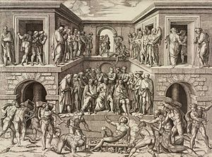 Marcantonio Raimondi - Martyrdom of Saint Lawrence, c 1525