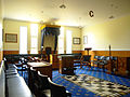 Masonic Lodge room, Shantytown Historical Park, New Zealand.jpg