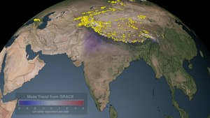 File:Mass Balance Change over India from GRACE.ogv