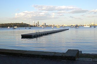 Matilda Bay - Matilda bay towards the city