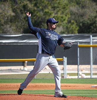 History of the Tampa Bay Rays - Matt Garza during his tenure with the Tampa Bay Rays in 2010 spring training.
