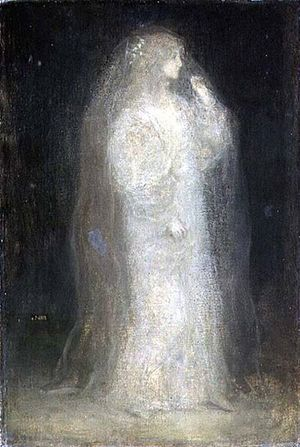 Matthijs Maris - Matthijs Maris, The Bride, or Novice taking the Veil, 1887