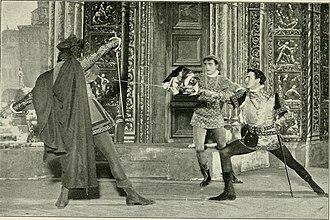 James K. Hackett (actor) - James K. Hackett (right) as Mercutio in the Broadway revival of Romeo and Juliet (1899)