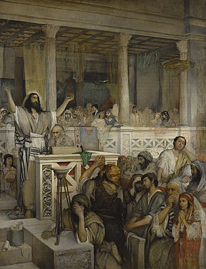 Christ preaching at Capernaum