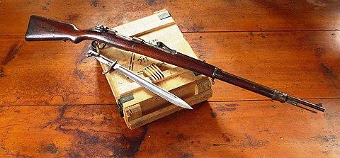 Karabin 7,92 mm Mauser wz.1898. Karabiny i karabinki Mausera były najczęściej używaną bronią przez partyzantów Batalionów Chłopskich