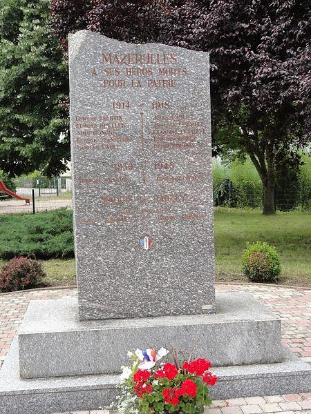Mazerulles (M-et-M) monument aux morts