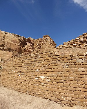 McElmo Phase - McElmo style masonry at the Chacoan great house Kin Kletso