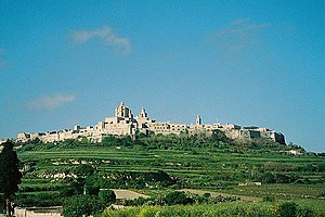Islam in Malta - Mdina, capital of Muslim ruled Malta.