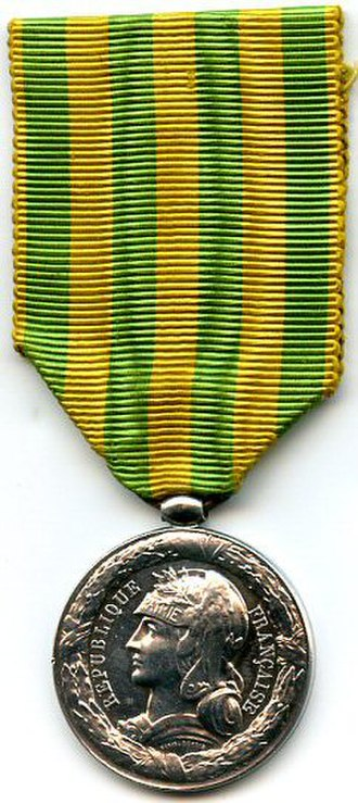 Tonkin Expedition commemorative medal - Image: Medaille de Chine TONKIN 1883 85 AVERS