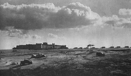 Mega Fort before the 1st South African Infantry Division attack MegaEastAfrica1941.JPG