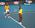 Melbourne Australian Open 2010 Venus Serve Practice.jpg